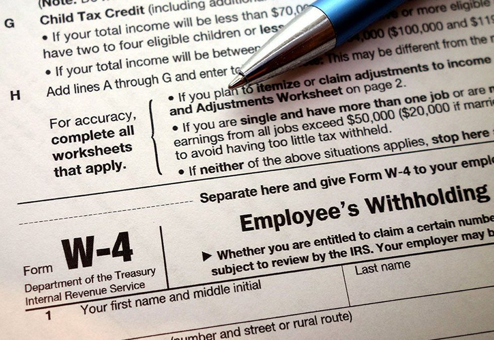 The new 2020 tax form